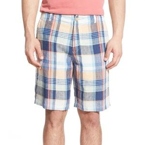TOMMY BAHAMA   MADRAS TO THE MAX   LINEN SHORTS H